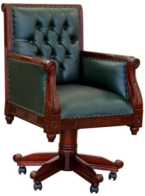 chaise de bureau chesterfield fauteuil de bureau anglais chesterfield vert meubles de