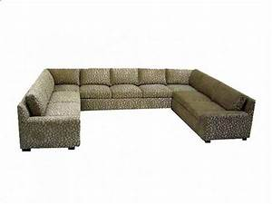 Furnitures Cheetah U Shape Large Sectional Sofa For