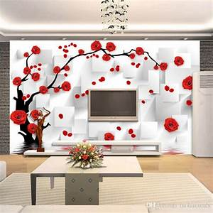 Customize Photo Wallpaper Rose 3d Mural Wall Paper For ...