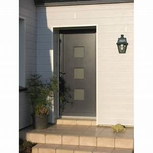 porte d39entree pvc With porte d entrée pvc en utilisant porte fenetre gris anthracite