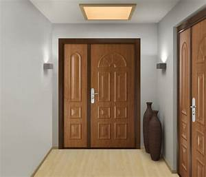 impressionnant porte blindee dans porte d entree bois 75 With porte blindee en bois