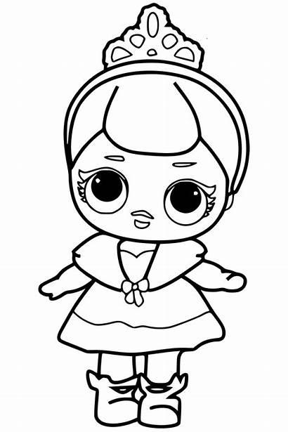 Lol Coloring Pages Surprise Doll Printable Princes