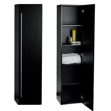 """Buy 16"""" x 67"""" Linen Cabinet in Black TN N1200 SC BK on"""