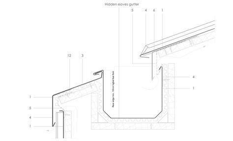 concealed gutter detail modern house