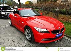Rood BMW Z4 redactionele stock afbeelding Afbeelding
