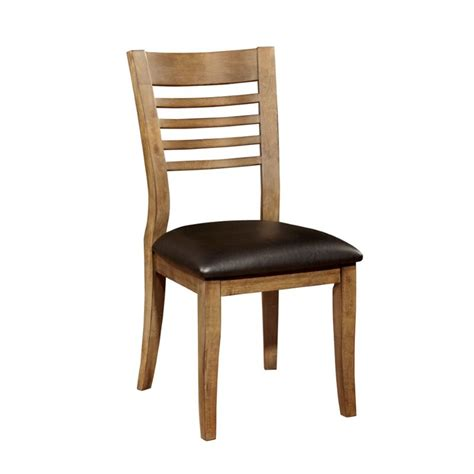furniture of america halen dining chair in oak