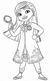 Mira Detective Royal Coloring Pages Anoop sketch template