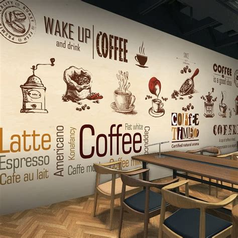 Coffee Designs Wallpapers by Custom Stereo 3d Photo Wallpaper Coffee Shop Restaurant