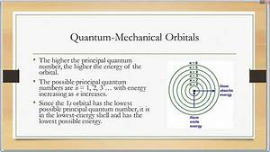 Electrons In Atoms Quantum Mechanical Model