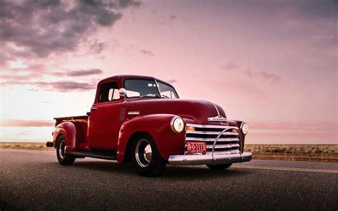 Wallpaper Chevrolet, Red Pickup, Retro, Old Car 1920x1200
