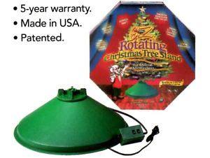 hms e z rotating artificial christmas tree stand revolving