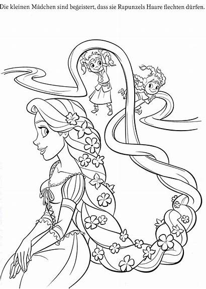 Coloring Rapunzel Pages Disney Printable Tangled Cartoon