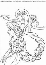 Coloring Rapunzel Pages Disney Printable Tangled Print Cartoon Coloriage sketch template