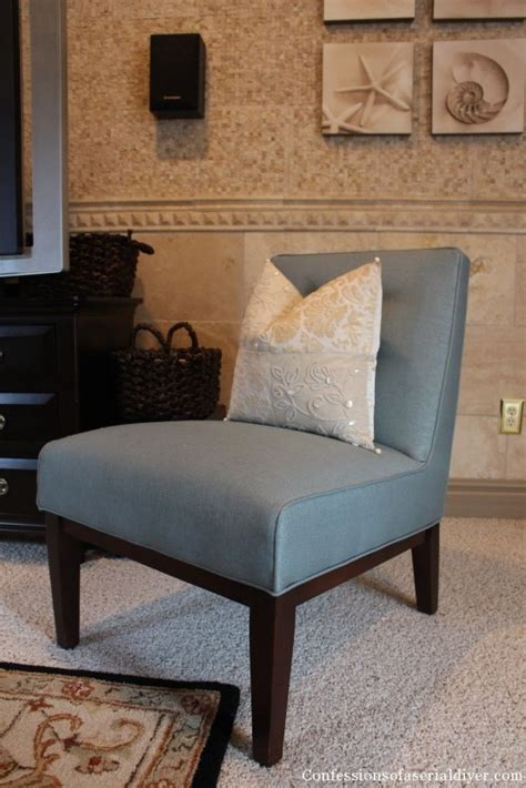 Armless Accent Chair Slipcovers by Slipcovering An Armless Accent Chair Confessions Of A