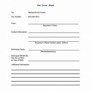 Sample fax cover sheet 10 examples format for Fax cover sheet name