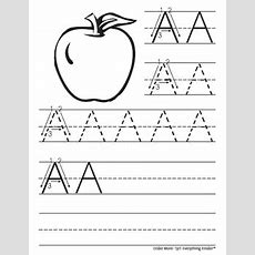 New! Alphabet Uppercaselowercase Tracing Packet  Coloring Edition