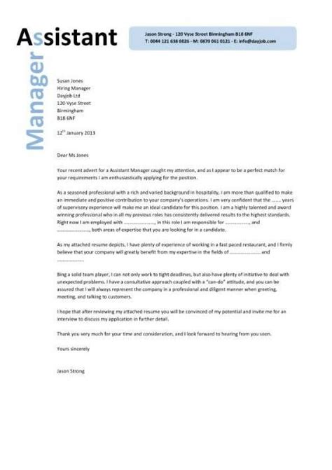Cover Letter For Assistant Property Manager by Assistant Manager Resume Cover Letter Assistant Manager