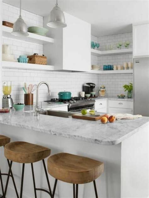 cuisine en marbre la cuisine en u avec bar voyez les dernières tendances