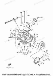 Yamaha Atv 2009 Oem Parts Diagram For Cylinder Head
