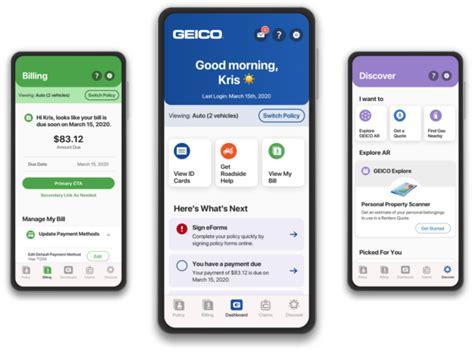 geico mobile app   makeover geico living