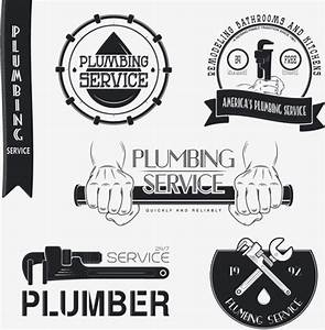 Vector plumber service logos with labels design Free ...