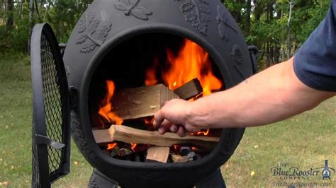 How To Make A Chiminea by Blue Rooster Chiminea Dragonfly Light A Chiminea
