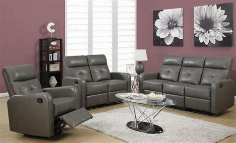 traditional sofa set price 85gy 3 charcoal gray bonded leather reclining living room
