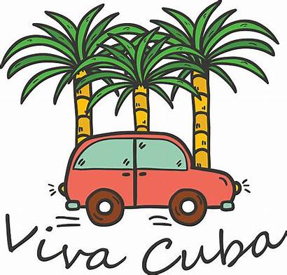 Cuba Clip Beach Vector Travel Illustrations Similar
