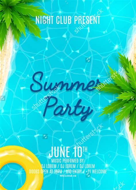 summer party flyer templates psd ai vector eps