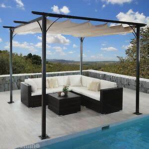 Pergola Mit Sonnensegel : 3x3 m pavillon garten pergola sonnenschutz terrassen berdachung sonnensegel mal ebay ~ Avissmed.com Haus und Dekorationen