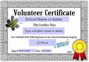 volunteer service award quotes quotesgram With volunteering certificate template