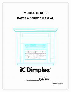 Dimplex Optiflame Electric Fireplace Service Manual
