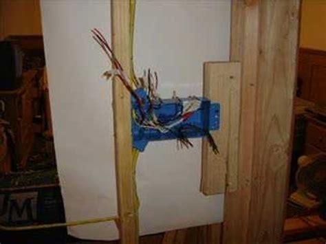 Bathroom Fan Wiring by 4 Gang Switch Box Youtube
