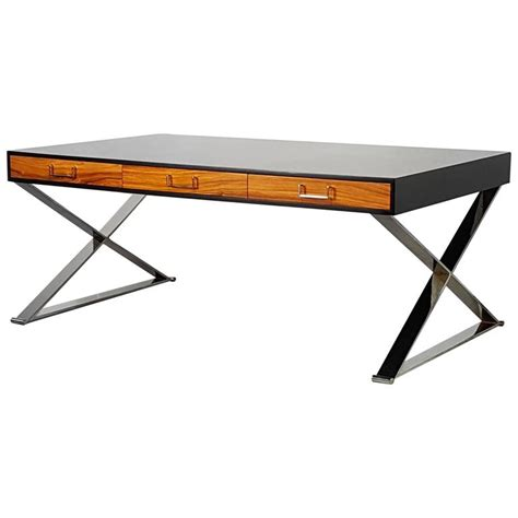 milo baughman rosewood desk massive milo baughman executive desk with rosewood and