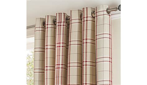 George Home Red Woven Check Curtains Curtain Runner Ideas Cheap Tab Curtains Rod Curved Shower Usa 102 Double Front Porch
