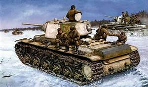 kv-1 russian tank ww2 war art painting red army russian ...