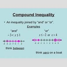 Math Review Of Graphing Compound Inequalities  Free Homework Help