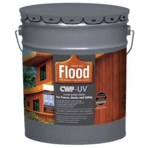 Cwf Deck Stain Home Depot by Flood 5 Gal Clear Cwf Uv Based Exterior Wood Finish