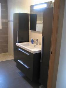 meuble salle de bain design gris kirafes With meuble de salle d eau