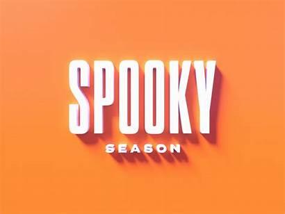 Spooky Season Halloween Dribbble Letters Spooks Orange