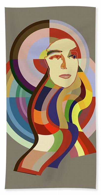 Sonia Delaunay Portrait Pop Beach Fat Arts
