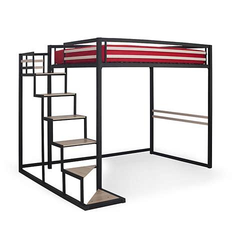 chambre avec lit mezzanine 2 places lit mezzanine 2 places noir avec sommier 140x200cm