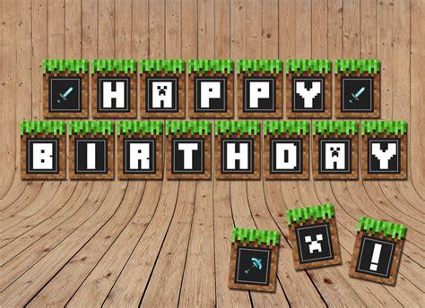 sale minecraft birthday banner minecraft  littlelight