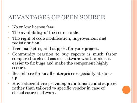 open source software part