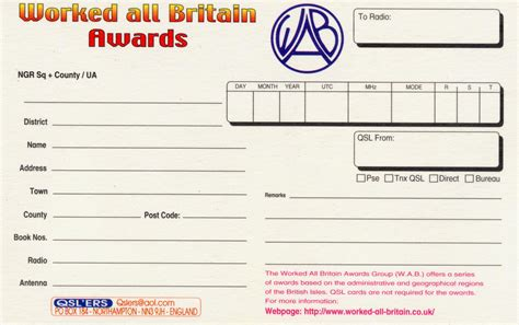 worked  britain web site qsl cards