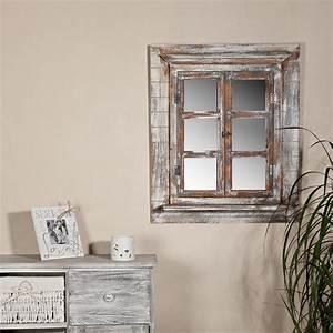 Spiegel Sichtschutzfolie Fenster : 64cm wandspiegel fensterladen ablage fotorahmen shabby ~ Articles-book.com Haus und Dekorationen