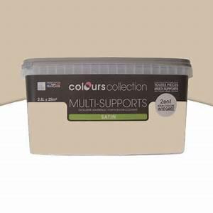Peinture multi supports Taupe Satin 2,5L CASTORAMA