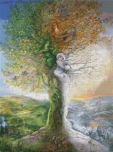Tree, Of, Four, Seasons, Wall125357