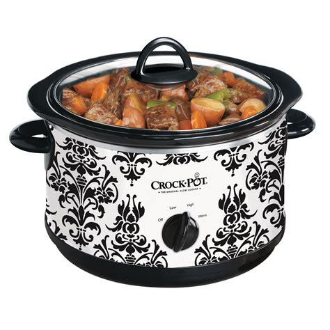 crock pot the original cooker crock pot 174 manual cooker damask scr450pt 033 crock pot 174 canada