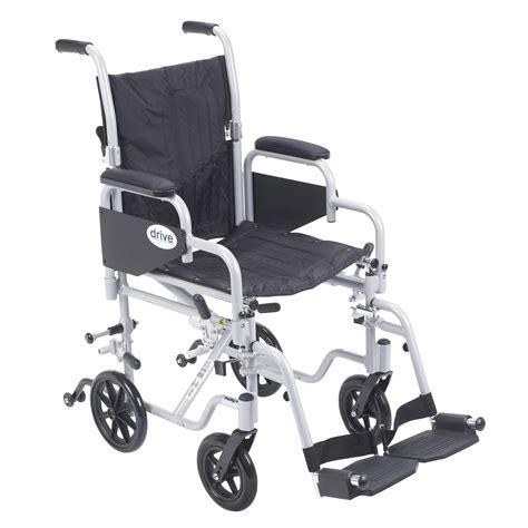 drive poly fly light weight transport chair